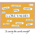 Leading On Management: Values On A Wall