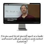 Leading On Marketing: The #1 Secret for Succeeding with Content Marketing (VIDEO)